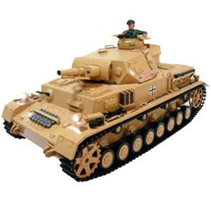 Radiostyrd stridsvagn - 1:16 - DAK Pz.Kpfw.IV Ausf.F-1 - 2,4Ghz - Metall - s.airg. rök & ljud - RTR
