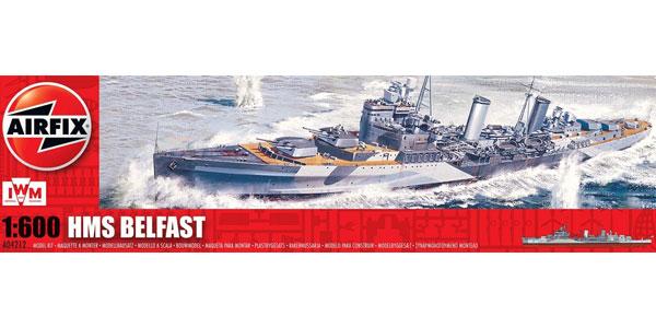Modell Krigsskepp - HMS Belfast - Airfix - 1:600