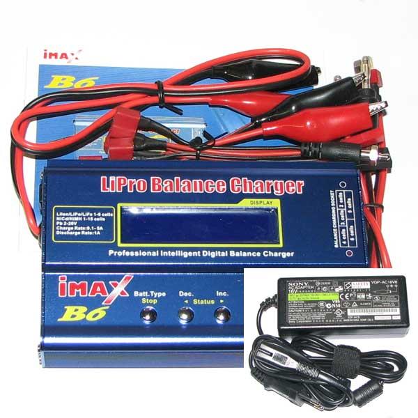 Automatisk batteriladdare - Imax B6 - Digital - (Li-Po, Ni-Mh, Ni-Cd) Max 5A, 220V