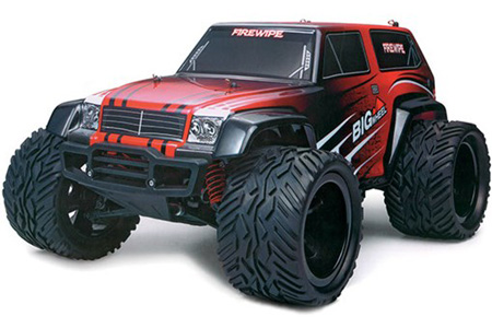 Radiostyrd bil - 1:12 - BlackZon Monster Truck 4WD - 2,4Ghz - röd/svart - RTR