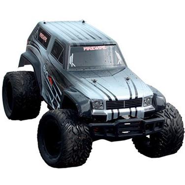 Radiostyrd bil - 1:12 - BlackZon Monster Truck 4WD - 2,4Ghz - silver/svart - RTR