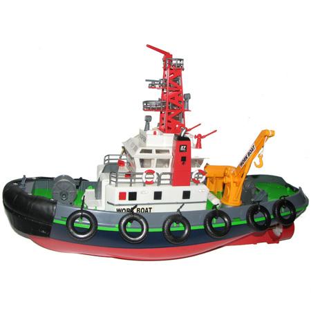 Radiostyrda båtar - Bogserbåt med vattenspruta - RTR
