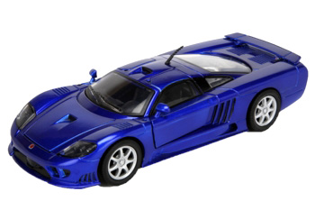 Byggmodell bil - Saleen S7 - (pre-painted, metal body EASY BUILD) - 1:24