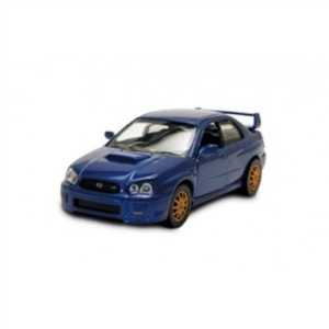 Byggmodell bil - Suburu Impreza Conv. red - 1:32 - (pre-painted, metal body kit EASY BUILD )