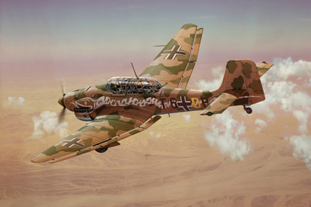 Modellflygplan - JU-87 B2/R2 STUKA - Italeri - 1:72
