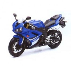 Byggmodell Motorcykel - 2008 Yamaha QZF-R1 blue  (pre painted, metal and plastic, EASY BUILD) - 1:12