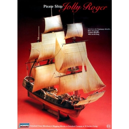Byggsats Segelbåt - Jolly Roger Pirate Ship - 1:130