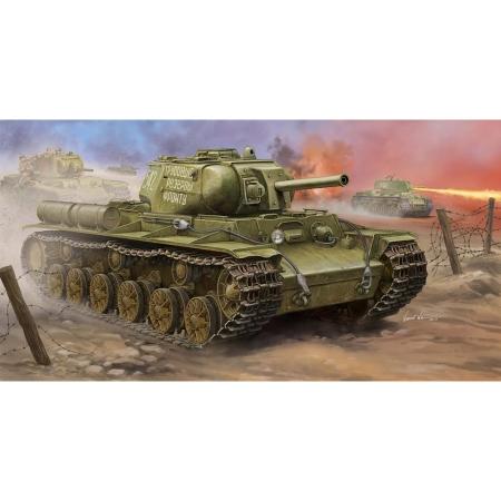 Byggsats Stridsvagn - Soviet KV-8S Heavy Tank - 1:35