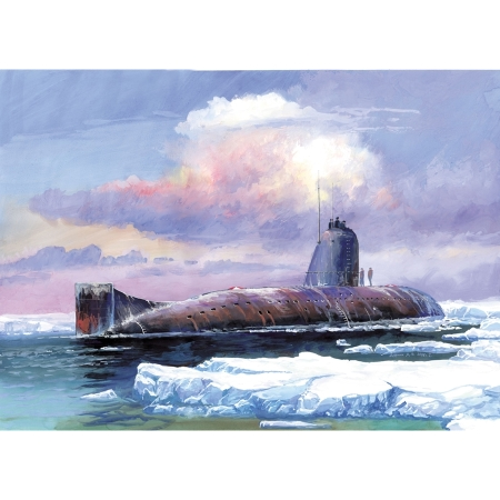 Byggsats Ubåt - Soviet Nuclear Submarine K-3 - November Class - 1:350
