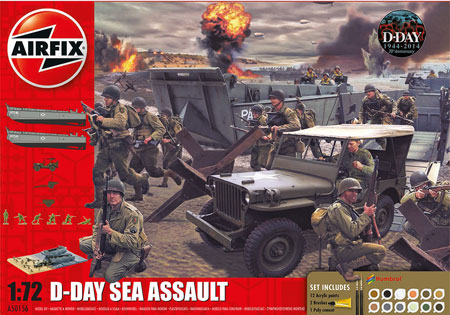 Byggmodell - D-Day Sea Assault Gift Set - 1:72