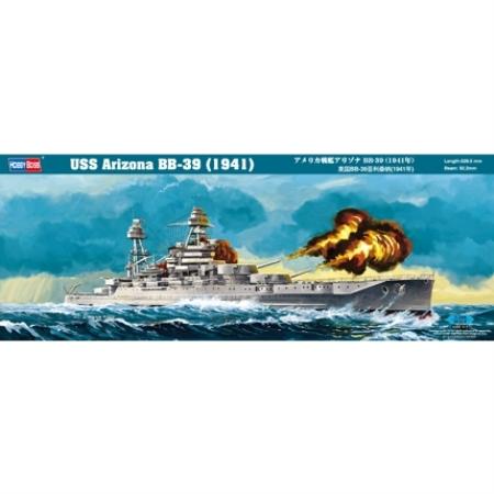 Byggsats Krigsfartyg - USS Arizona BB-39 (1941) - 1:350 - HobbyBoss