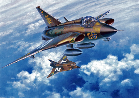 Modellflygplan - J35 F/J Draken - 1:48 - HaseGawa