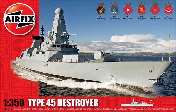 Byggmodell - HMS Daring Type 45 Destroyer - 1:350