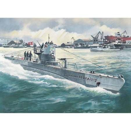 Byggsats Ubåt - U-Boat type IIB (1943), german submarine - 1:144 - ICM