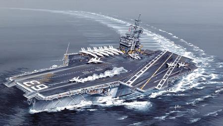 Byggsats Krigsfartyg - Uss Kitty Hawk CV-630 - 1:720 - Italeri