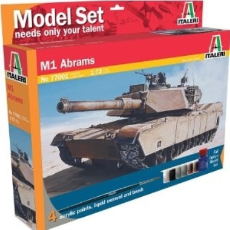 Byggsats Stridsvagn - M1 Abrams - Model set - 1:72 - Italeri