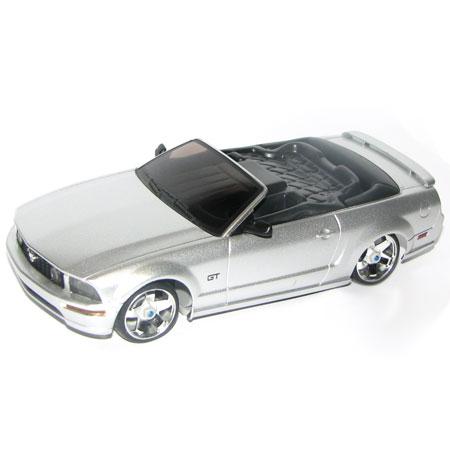 Radiostyrda bilar - 1:28 - Iwaver 04M Ford Mustang - 4WD - 2,4Ghz - Silver - Färgsändare - RTR