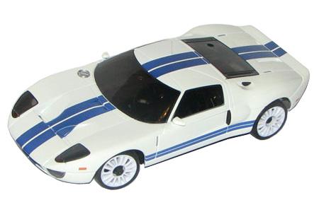 Radiostyrda bilar - 1:28 - Iwaver 04M Ford GT - 4WD - 2,4Ghz - Vit - Färgsändare - RTR