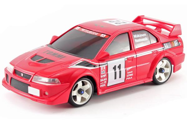 Radiostyrda bilar - 1:28 - Iwaver 04M Mitsubishi EVO - 4WD - 2,4Ghz - Röd - Färgsändare - RTR