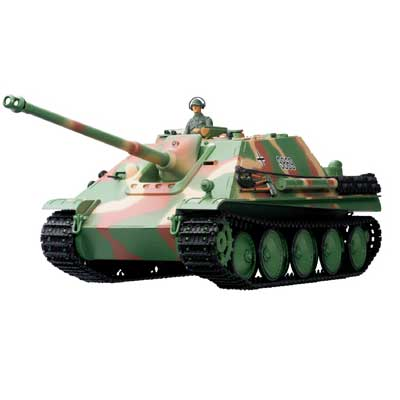 Radiostyrd stridsvagn - 1:16 - Jagdpanther Cammo METALL Upg. - 2,4Ghz - s.airg. rök & ljud - RTR