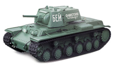 Radiostyrd stridsvagn - 1:16 - Russian KV-1 - 2,4Ghz - s.airg. rök & ljud - RTR