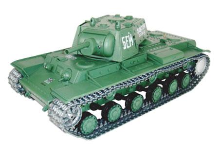 Radiostyrd stridsvagn - 1:16 - Russian KV-1 METALL Upg. - 2,4Ghz - s.airg. rök & ljud - RTR