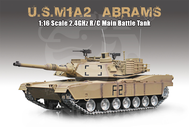 Demo - 1:16 - M1A2 Abrams Ultimate - 2,4Ghz - Met. s.airg. rök & ljud - RTR