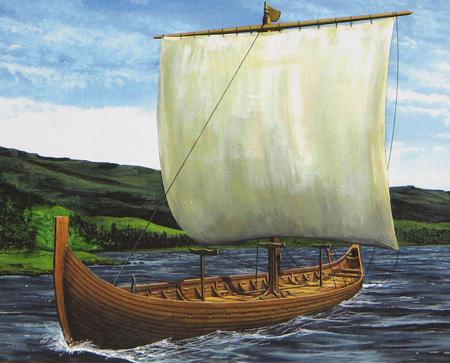 Modellbåt - Vikinga skeppet Gökstad - Emhar - 1:72