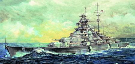 Modellbåt - Bismarck 1941 - Trumpeter - 1:700