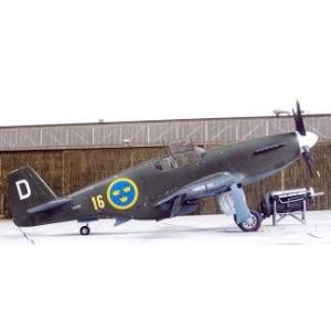 Modellflygplan - P-51D Mustang inkl. SE decals - 1:72