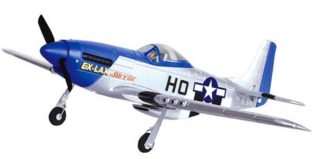 Flygplan - P51D Mustang 2,4Ghz BL + Sim - Borstlöst - 4ch - EPO -  RTF