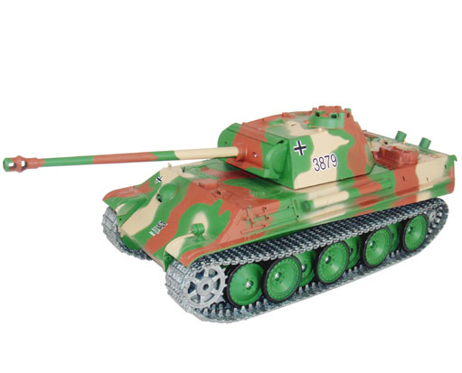 Radiostyrd stridsvagn - 1:16 - Panther Tank G BATTLE + Flash - METALL - rök & ljud - RTR