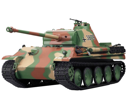 Radiostyrd stridsvagn - 1:16 - Panther Tank G BATTLE + Flash - rök & ljud - RTR