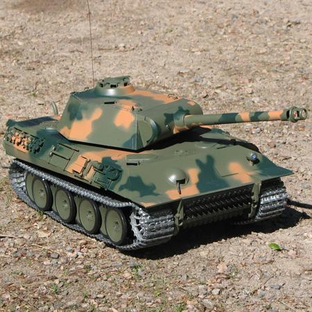 Radiostyrd stridsvagn - 1:16 - PanterTank METALL Upg. - 2,4Ghz - s.airg. rök & ljud - RTR