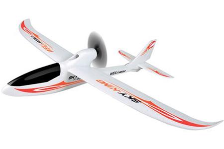 Nybörjar Flygplan - Sky King 2,4Ghz - Röd - 3ch - EPO -  RTF