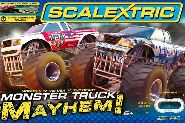 Scalextric bilbana - Monster Truck Mayhem - 1:32 - Inkl. 2 Bilar