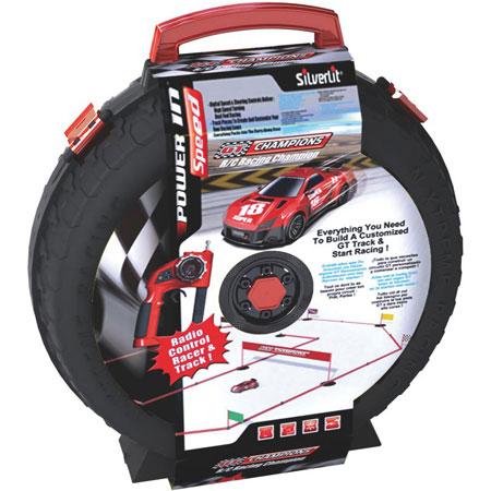 Radiostyrda bilar - Silverlit RC Racing Champion + Bilbana - RTR