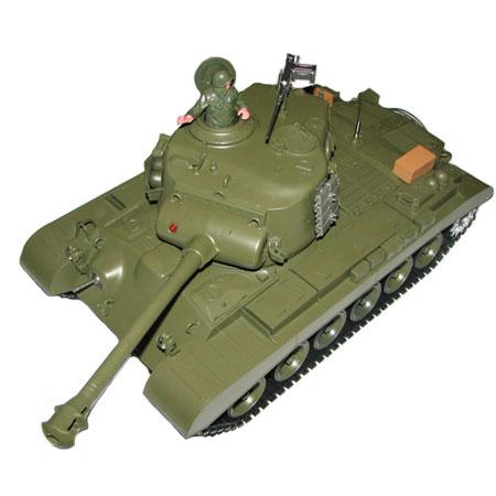 Radiostyrd stridsvagn - 1:16 - Snow Leopard (m26 pershing) softairgun m. rök & ljud - RTR