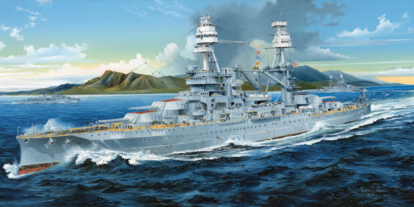 Krigsfartyg modell - USS ARIZONA BB-39 - 1:200