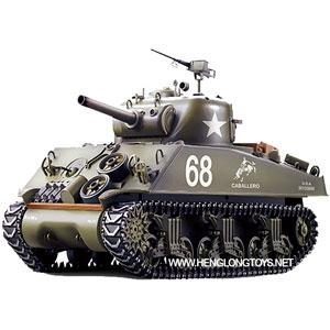 Radiostyrd stridsvagn - 1:16 - Sherman - 2,4Ghz - s.airg. rök & ljud - RTR