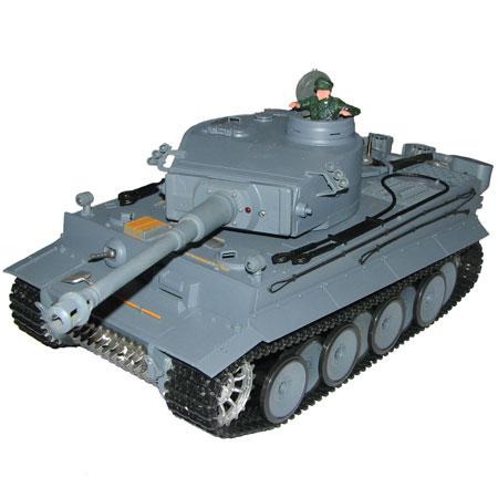 Radiostyrd stridsvagn - 1:16 - TigerTank - 2,4Ghz - s.airg. rök & ljud - RTR