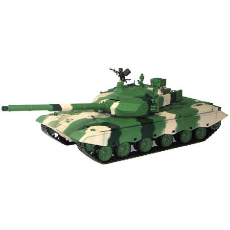 Radiostyrd stridsvagn - 1:16 - ZTZ Typ 99 METALL Upg. - softairgun m. rök & ljud - RTR
