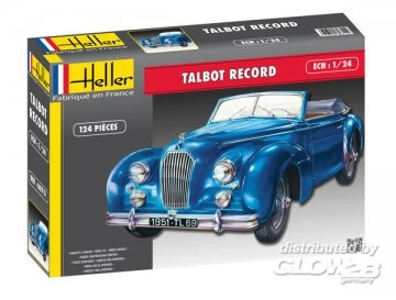 Byggmodell bil - Talbot Largo Record - 1:24
