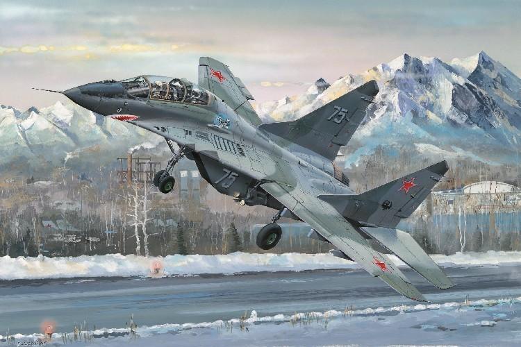 Byggmodell flygplan - Russian MIG-29UB Fulcrum - 1:32 - Tr