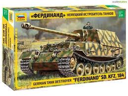 Byggmodell stridsvagn - Sd. Kfz.184 Ferdinand Tiger - 1:35 - Zv