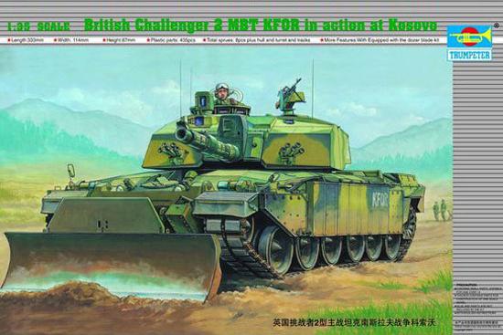 Byggmodell stridsvagn - British CHALLENGER II MBT KFOR KOSOVO - 1:35 - TR