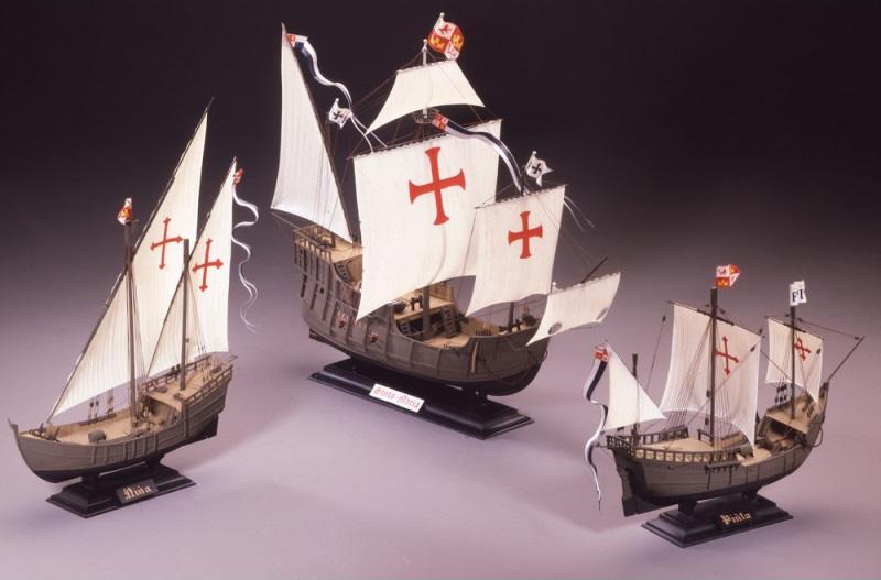 Byggmodell segelbåt - Christopher Columbus 3 ships Nina,St Maria, Pinta - SET - 1:75 - Heller