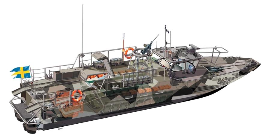 Byggmodell krigsfartyg - Stridsbåt 90 - CB-90 - 1:35