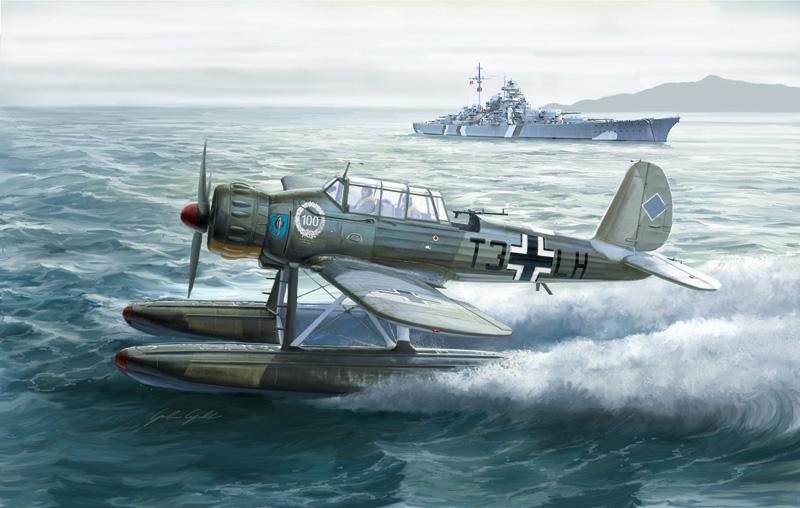 Byggmodell flygplan - Arado Ar 196 A-3 - 1:48 - IT