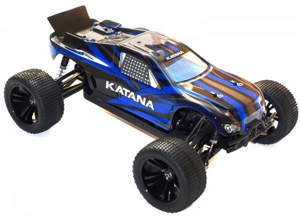 Radiostyrda bilar - 1:10 - Katana Truggy 4wd - Blå - 2,4Ghz - RTR